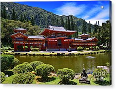 Byodo-in Temple On The Island Of Oahu Hawaii Acrylic Print