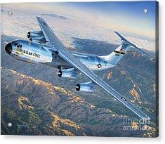 C-141 Starlifter The Golden Bear Acrylic Print by Stu Shepherd
