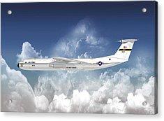 C-141b Starlifter Acrylic Print by Arthur Eggers