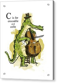 C Is For Crocodile Acrylic Print