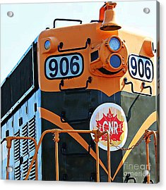 C N R Train 906 Acrylic Print by Barbara Griffin