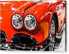 C1 Red Chevrolet Corvette Picture Acrylic Print