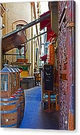 Ca De Vin Acrylic Print by Mamie Thornbrue