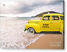 Acrylic Print featuring the photograph Cab Fare To Maui by Edward Fielding