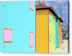 Cabana On Half Moon Cay, Little San Acrylic Print by Richard Cummins / Robertharding