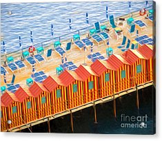 Cabanas Of Sorrento Acrylic Print by TK Goforth
