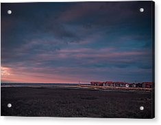 Acrylic Print featuring the photograph Cabanes by Thierry Bouriat