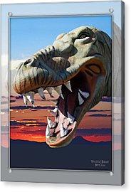Cabazon Dinosaur Acrylic Print by Walter Herrit