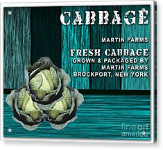 Cabbage Farm Acrylic Print by Marvin Blaine