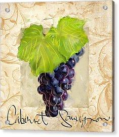 Cabernet Sauvignon Acrylic Print by Lourry Legarde