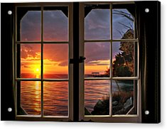 Acrylic Print featuring the photograph Cabin 11 On The James River by Williams-Cairns Photography LLC
