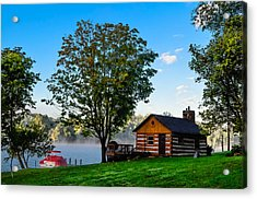 Cabin At The Lake Acrylic Print