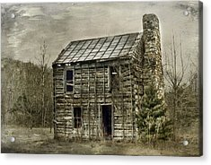 Cabin By The Track Series II Acrylic Print by Kathy Jennings