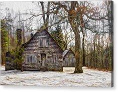 Cabin Dream Acrylic Print by Debra and Dave Vanderlaan
