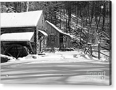 Cabin Fever In Black And White Acrylic Print by Paul Ward