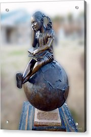 Cabin Fever Sculpture Acrylic Print by Pete Trenholm
