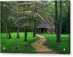 Acrylic Print featuring the photograph Cabin In Cades Cove by Rodney Lee Williams
