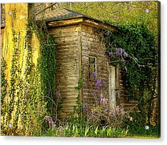 Cabin In The Back Acrylic Print