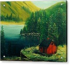 Cabin In The Catskills Acrylic Print