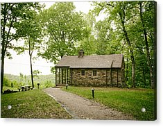 Cabin In The Forest Acrylic Print by Mountain Dreams