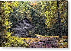 Acrylic Print featuring the photograph Cabin In The Mountains by Gina Cormier