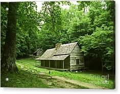 Cabin In The Smokey Mtns Acrylic Print by Teri Brown