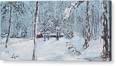 Cabin In The Woods Acrylic Print by Alys Caviness-Gober