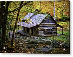 Cabin In The Woods Acrylic Print by Lawrence Golla