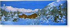 Cabin Mount Alyeska, Alaska, Usa Acrylic Print by Panoramic Images