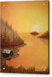Cabin On The Lake Acrylic Print