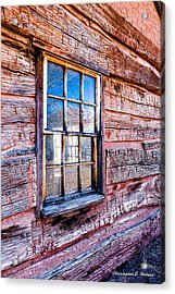 Cabin Window Acrylic Print by Christopher Holmes