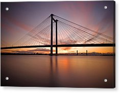 Acrylic Print featuring the photograph Cable Bridge by Ronda Kimbrow