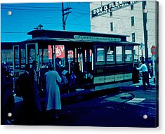 Cable Car 1955 Acrylic Print by Cumberland Warden