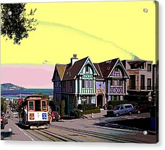 Cable Car Hyde Street Acrylic Print by Charles Shoup