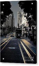Cable Car In San Francisco Fine Art Acrylic Print