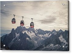 Cable Car In The Alps Acrylic Print by Buena Vista Images