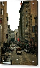 Cable Car In The City Acrylic Print
