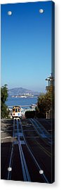 Cable Car On Tracks, Alcatraz Island Acrylic Print by Panoramic Images