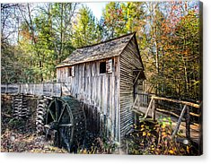 Cable Grist Mill At Cades Cove Acrylic Print