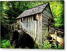 Cable Mill - Cades Cove Acrylic Print by Stephen Stookey