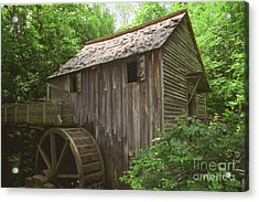 Cable Mill In Smoky Mtns Acrylic Print by Teri Brown