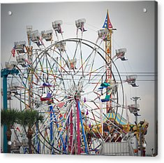 Cables Wires And Wheels Oh Boy Acrylic Print by Judy Hall-Folde