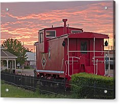Caboose 1 Acrylic Print by Walter Herrit