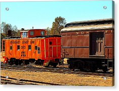 Caboose And Car Acrylic Print