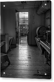Acrylic Print featuring the photograph Caboose Door by Ed Cilley