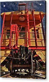 Caboose Acrylic Print by James Eddy
