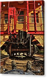 Caboose On The Loose Acrylic Print by James Eddy
