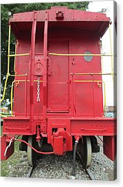Caboose Acrylic Print by Randall Weidner
