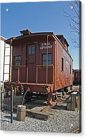 Caboose Acrylic Print by Skip Willits
