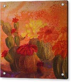 Cactus Garden - Square Format Acrylic Print by Ellen Levinson
